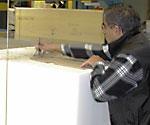 manual foam pattern marking and cutting