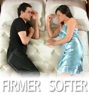 same mattress with individual custom comfort sides