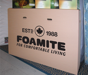 vacuum packed foam mattress folded in box