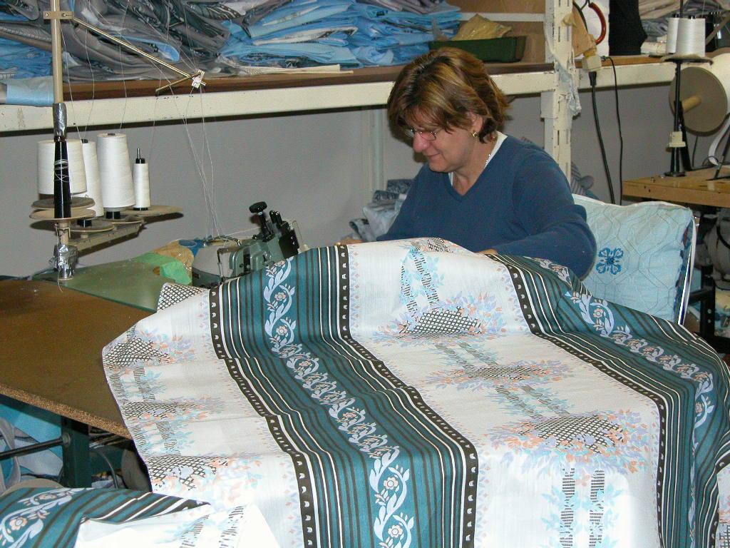 mattress cover high density foam quilting machine
