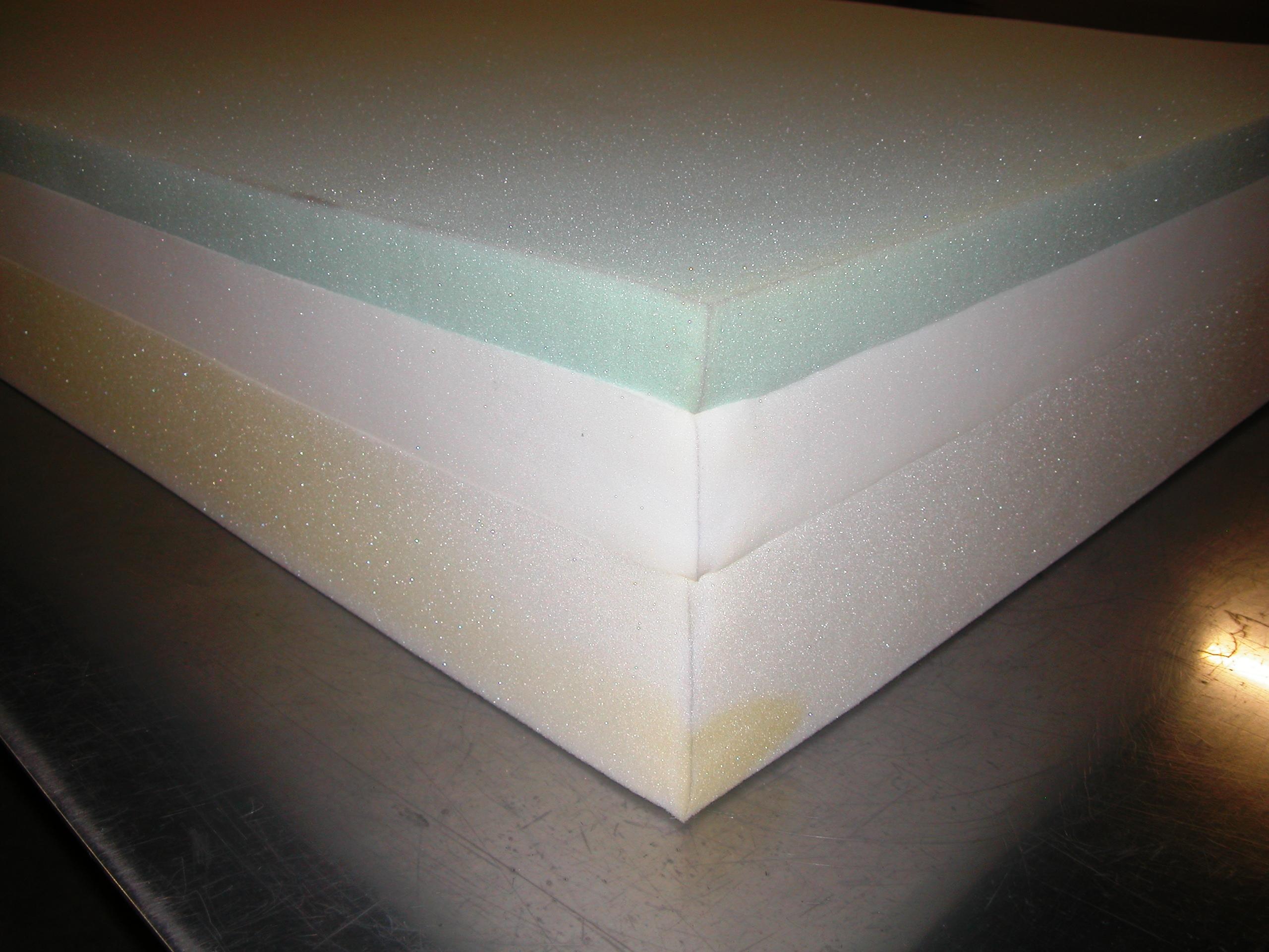 A competitor's 3 layered mattress
