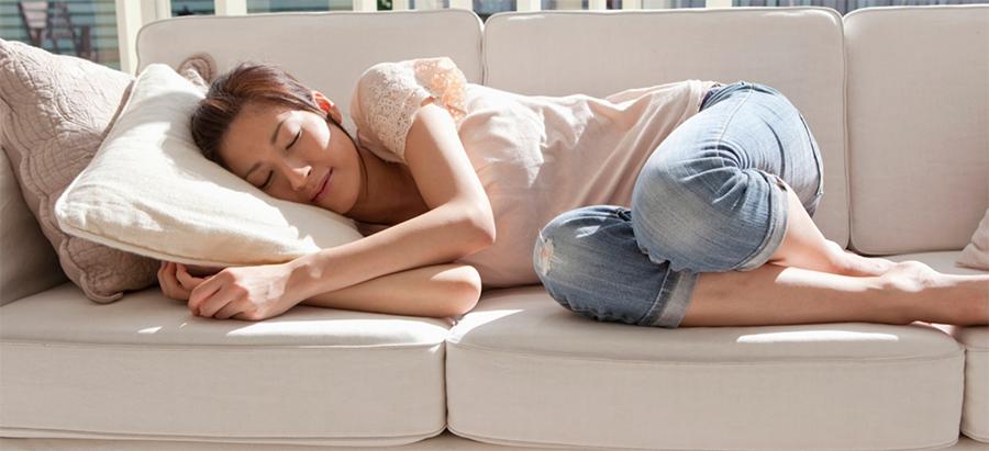 Comfortable on Sofa