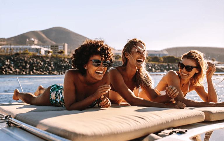 Friends on Boat Matt